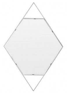 Casa Padrino Designer Wandspiegel Silber 81 x H. 119 cm - Edelstahl Spiegel in Form eines Diamanten - Designermöbel