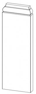 Casa Padrino Barock Wanddeko Sockel Weiß 18, 5 x 4, 1 x H. 54, 1 cm - Deko Zierelement Säulenfuß - Vorschau 5