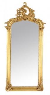 Casa Padrino Luxus Barock Wandspiegel Gold 120 x 55 cm - Massiv und Schwer - Antik Stil Spiegel