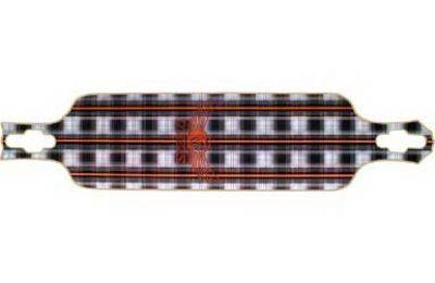 Dregs Slide 102 PLAID Longboard Deck 38 x 8.5 inch - Cruiser Deck Flex5 (soft)