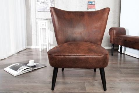 Casa Padrino 60er Jahre Retro Salon Sessel Dunkelbraun - Cocktailsessel Jahre 1960´s Sixties