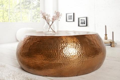 Casa Padrino Luxus Couchtisch kupfer 82 cm kupfer - Wohnzimmer Salon Tisch - Vorschau 3