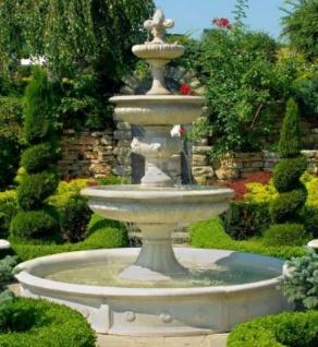Casa Padrino Barock Gartenbrunnen / Springbrunnen Ø 265 x H. 280 cm - Prunkvoller 3-Stufiger Brunnen im Barockstil - Vorschau 1