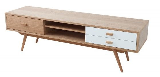 Casa Padrino Designer Fernsehschrank TV-Board Natur 150 x 42 x H.45cm - Sideboard - Kommode