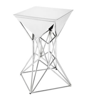 Casa Padrino Luxus Art Deco Designer Beistelltisch 36 x 36 x H. 60 cm - Luxus Designer Tisch