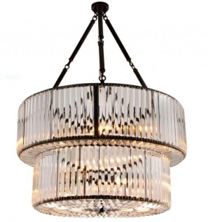 Casa Padrino Luxus Hängeleuchte - Luxus Kristallglas Restaurant Hotel Lampe Leuchte