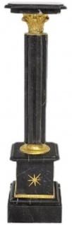 Casa Padrino Barock Säule Schwarz / Gold H. 100 cm - Prunkvolle Marmor Säule im Barockstil - Barock Deko Accessoires