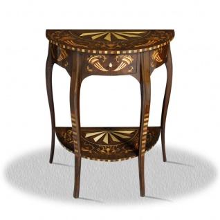 Casa Padrino Barock Beistelltisch mit Schublade 60 x 35 x H. 75 cm - Antik Stil Beistelltisch