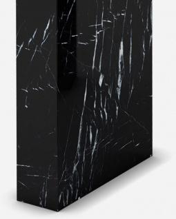 Casa Padrino Luxus Marmor Konsole Schwarz 150 x 45 x H. 90 cm - Moderner Konsolentisch aus hochwertigem Marmor - Luxus Möbel - Vorschau 3