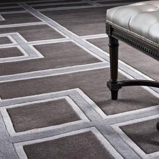 Luxus Teppich casa padrino luxus teppich aus neuseeland wolle grau - verschiedene