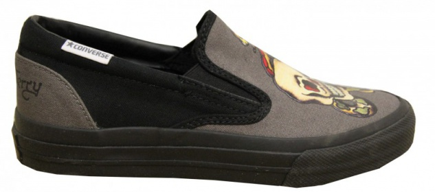 Converse Skateboard Schuhe Skidgrip Ev Slp Charcoal Slip On