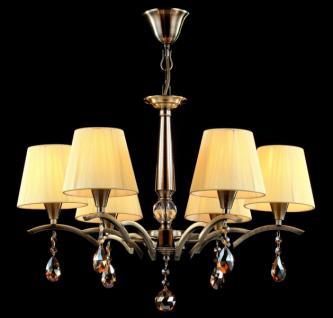 Casa Padrino Barock Decken Kristall Kronleuchter Bronze 58 x H 42, 5 cm Antik Stil - Möbel Lüster Leuchter Hängeleuchte Hängelampe