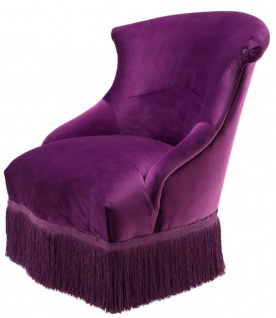 Casa Padrino Designer Sessel Lila 68 x 70 x H. 79 cm - Luxus Kollektion