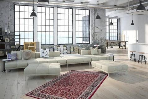Casa Padrino Luxus Teppich mit Fransen Rot - Verschiedene Größen - Gemusterter Wohnzimmer Teppich - Deko Accessoires - Vorschau 4