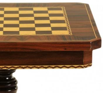 Casa Padrino Barock Spieltisch Schach / Dame Tisch Mahagoni - Möbel Antik Stil Art Deco Jugendstil Schachtisch - Vorschau 2