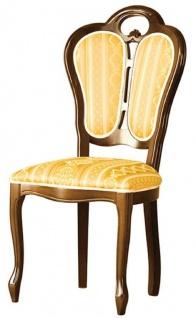 Casa Padrino Luxus Barock Esszimmer Set Braun / Weiß / Gold 48 x 43 x H. 104, 5 cm - 4 Esszimmerstühle - Barock Esszimmermöbel - Vorschau 2