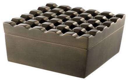 Casa Padrino Luxus Aluminium Aschenbecher - Designer Accessoires