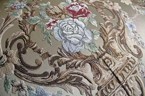 Casa Padrino Barock Sofa Creme Muster / Gold - italienischer Stil - Barock Möbel - Unikat! - Vorschau 4