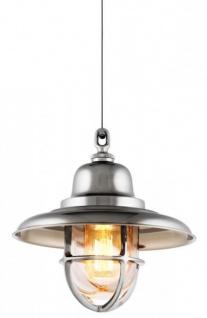 Casa Padrino Luxus Laterne - Luxus Hängeleuchte Nickel Durchmesser 22 x H 24 cm