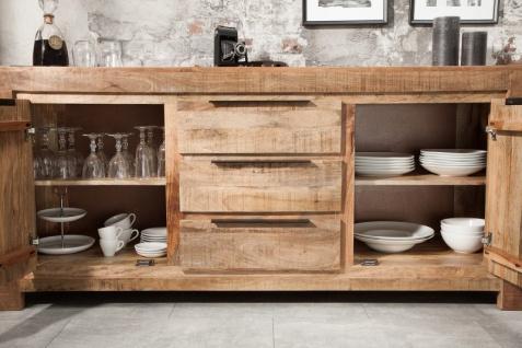 Casa Padrino designer Kommode 174 x 50 x H.76cm - Fernsehschrank - Sideboard - Handgefertigt aus Massivholz - Unikat! - Vorschau 4