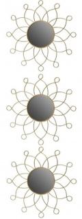Casa Padrino Designer Metall Spiegel Set Gold Ø 25 cm - Wandspiegel 3er Set