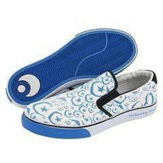 Osiris Skateboard Schuhe / Slip On Scoop White / Blue / Foundation Moons