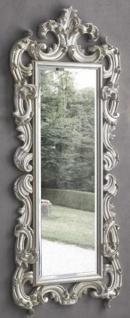 Casa Padrino Luxus Barock Spiegel Silber 86 x 8 x H. 203 cm - Barock Garderobenspiegel - Möbel im Barockstil