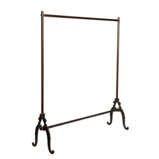 Casa Padrino Designer Kleiderständer - Kleiderbügel 120 x 37 x H.142cm - Eisen - sehr edel