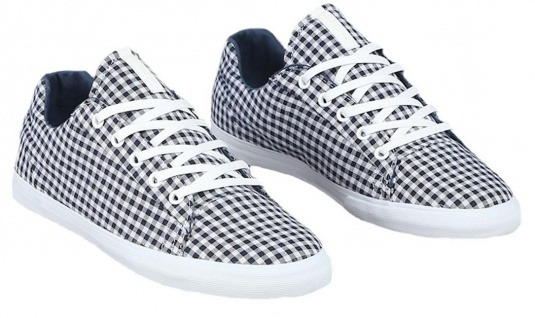 SUPRA Skateboard Schuhe Assault White/Navy Plaid