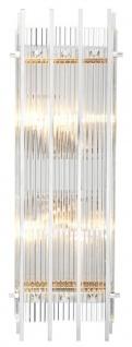 Casa Padrino Luxus Wandleuchte Silber 23 x 12 x H. 65 cm - Hotel Restaurant Wandlampe