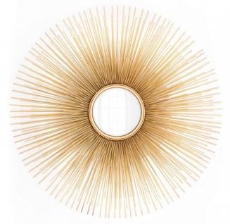 Casa Padrino Luxus Wand Spiegel Sonne Gold - Convexer Spiegel