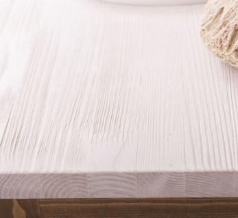 Casa Padrino Landhausstil Badezimmer Set Naturfarben / Weiß - 1 Waschtisch & 1 Wandspiegel - Massivholz Badezimmer Möbel im Landhausstil - Vorschau 4
