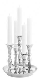 Casa Padrino Luxus Messing Kerzenhalter Silber Ø 22 x H. 23, 5 cm - Hotel & Restaurant Accessoires