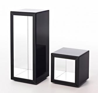 Casa Padrino Luxus Beistelltisch im Säulen Design Schwarz 46 x 46 x H. 112 cm - Luxus Qualität - Vorschau 4