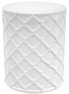 Casa Padrino Keramik Trommel Weiß Ø 36 x H. 45 cm - Designer Wohnzimmer Dekoration