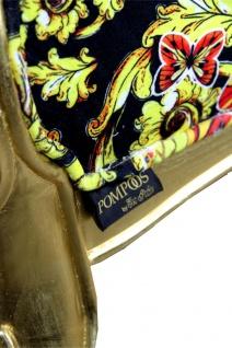 Pompöös by Casa Padrino Luxus Ballon Barock Sessel Schwarz / Gold / Butterfly & Flower Design mit glitzernder Krone - Pompööser Barock Sessel designed by Harald Glööckler - Vorschau 3