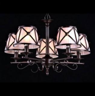 Casa Padrino Barock Decken Kronleuchter Dunkel Braun 68 x H 44, 5 cm Antik Stil - Möbel Lüster Leuchter Hängeleuchte Hängelampe