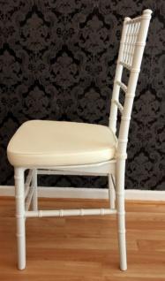 Casa Padrino Designer Acryl Stuhl inkl Sitzkissen Weiß/Creme - Ghost Chair white - Polycarbonat Möbel - Acryl Möbel - Geisterstuhl - Vorschau 3