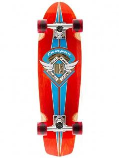 Mindless Campus II Oldschool Skateboard Wood Cruiser Komplettboard Red - Old School Complete Skateboard
