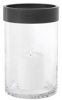 Casa Padrino Luxus Kerzenleuchter Bronze Ø 20 x H. 31, 5 cm - Runder Glas Kerzenleuchter mit Aluminium Ring - Luxus Kollektion