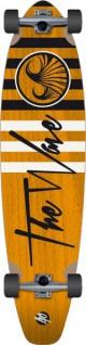 Wave Longboard Pintail Komplettboard Striper Orange 40.0 mit Koston Kugellagern