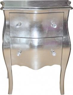 Casa Padrino Barock Kommode Silber Antik Look H 78 cm, B 62 cm, T 36 cm