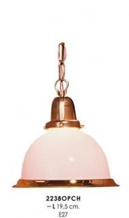 Klassische Pendelleuchte im Landhausstil Weiß/Gold, Durchmesser 19, 5 cm, Leuchte Lampe