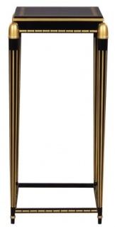 Casa Padrino Luxus Wohnzimmer Blumentisch Schwarz / Gold 45 x 45 x H. 95 cm - Luxus Beistelltisch
