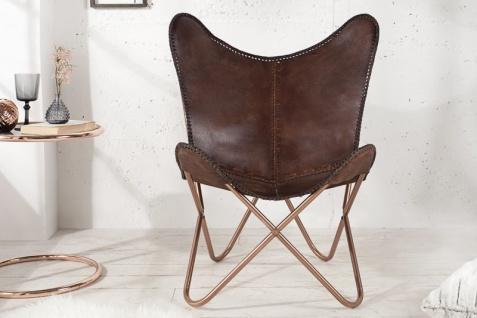 Casa Padrino Echleder Designer Sessel Braun - Relax Leder Stuhl
