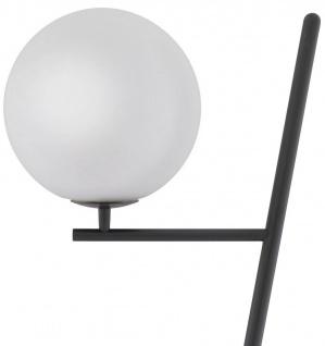 Casa Padrino Luxus Stehleuchte Bronze / Schwarz / Weiß 39 x 30 x H. 159 cm - Moderne Metall Stehlampe mit Marmorfuss und rundem Glas Lampenschirm - Luxus Qualität - Vorschau 4
