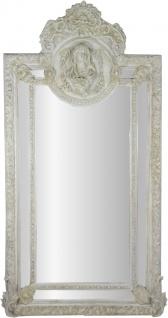 Herrschaftlicher Casa Padrino Barock Spiegel Antik Stil Grau-Weiss Maria Motiv - Barock Möbel Antik Stil