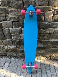 Moose Longboard Komplettboard Skateboard Pintail Light Blue / Black - 1B Ware mit Kratzern