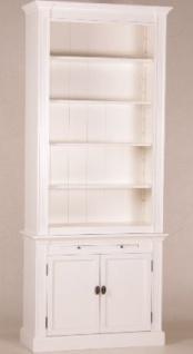 Casa Padrino Shabby Chic Landhaus Stil Schrank Bücherschrank Weiß B 100 H 240 cm- Schrank