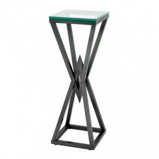 Casa Padrino Luxus Beistelltisch / Säule Edelstahl Bronze Finish 35 x 35 x H 101 cm - Tisch Möbel